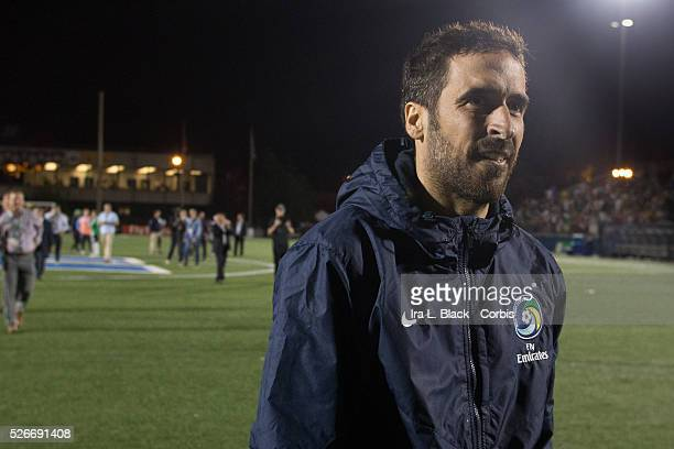 NY Cosmos player Raul smiles after the Soccer 2015 Lamar Hunt US Open Cup Fourth Round New York City FC vs NY Cosmos on June 17 2015 at James M...