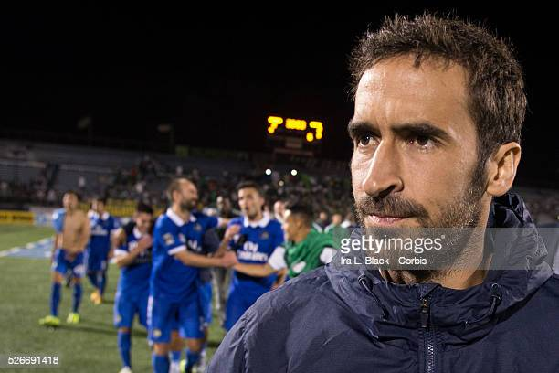 NY Cosmos player Raul with teammates behind him after the Soccer 2015 Lamar Hunt US Open Cup Fourth Round New York City FC vs NY Cosmos on June 17...