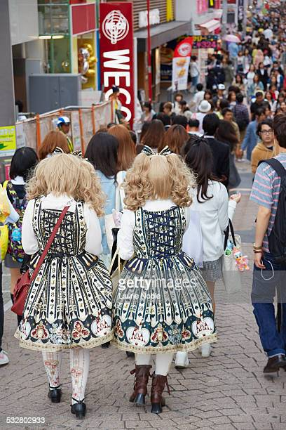 Cosplay girl walking down Takeshita St, Harajuku