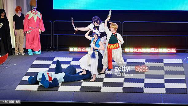 Cosplay Human Chess tournament at the Anime Boston 2014 Convention in which fans dress as their favorite anime and manga character pitting Chaos...