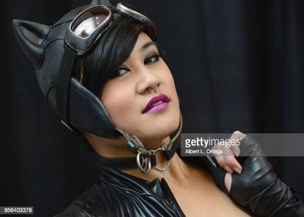 Cosplayer Ada Mist dressed as Catwoman attends NerdbotCon 2017 held at Pasadena Convention Center on September 30 2017 in Pasadena California
