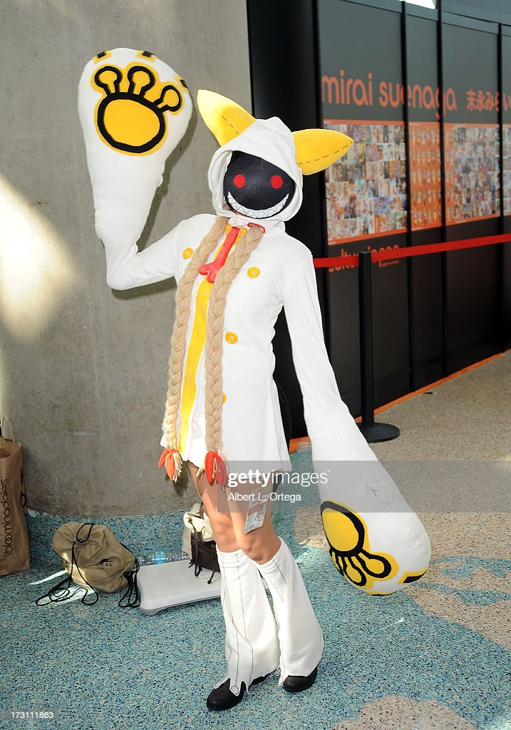Cosplayer Aleyanra as cacokaka attends the Anime Expo (AX) 2013 held at The Los Angeles Convention Center on July 6, 2013 in Los Angeles, California.