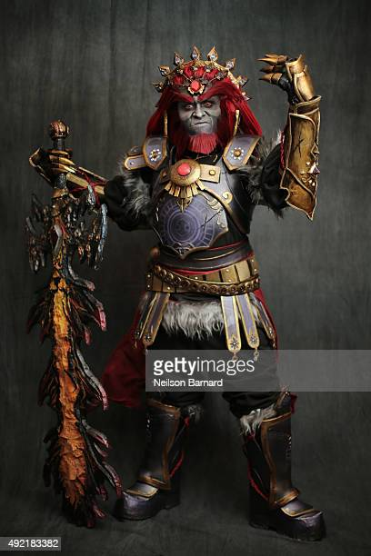 A cosplayer as Ganondorf from The Legend of Zelda during the New York Comic Con 2015 at The Jacob K Javits Convention Center on October 10 2015 in...