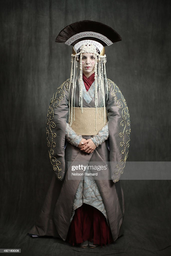 A cosplayer as Queen Amidala during the New York Comic Con 2015 at The Jacob K Javits Convention Center on October 10 2015 in New York City New York...