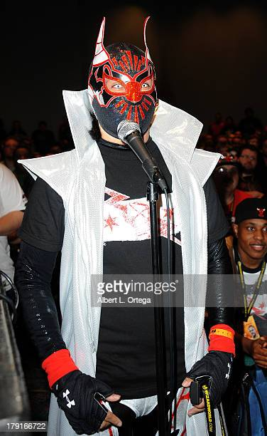 Cosplayer as Rey Mysterio attends Day 2 of Wizard World Chicago Comic Con held at Donald E Stephens Convention Center on August 10 2013 in Rosemont...