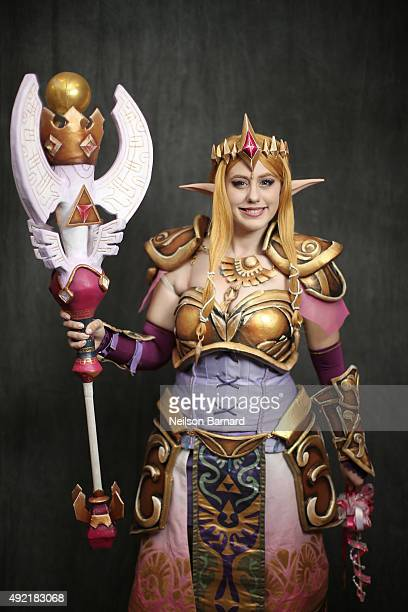 A cosplayer as Zelda during the New York Comic Con 2015 at The Jacob K Javits Convention Center on October 10 2015 in New York City New York Comic...
