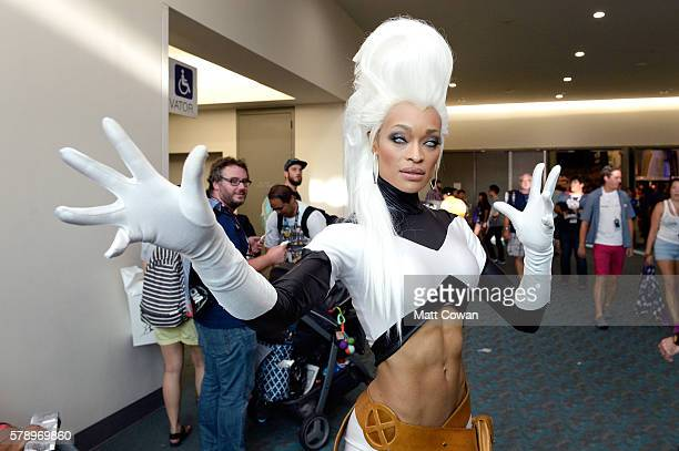 A cosplayer attends ComicCon International on July 22 2016 in San Diego California