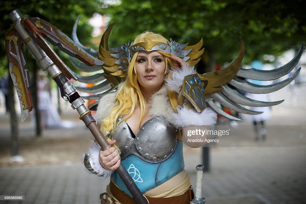 A cosplayer attends MCM Comic Con at ExCeL convention centre in London, England on May 29, 2016.