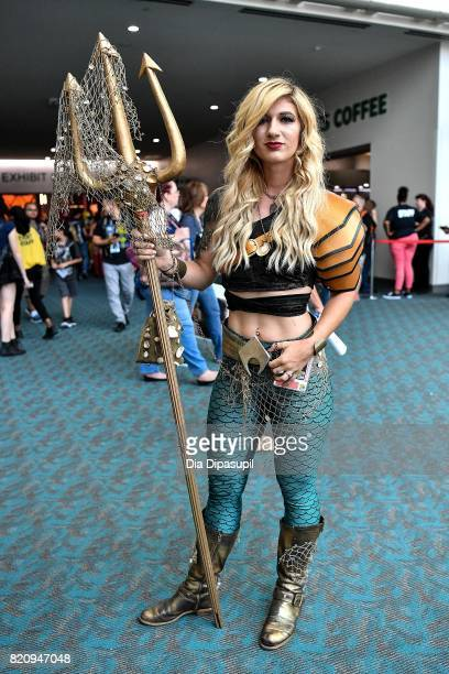 A cosplayer attends the 2017 ComicCon International at the San Diego Convention Center on July 22 2017 in San Diego California