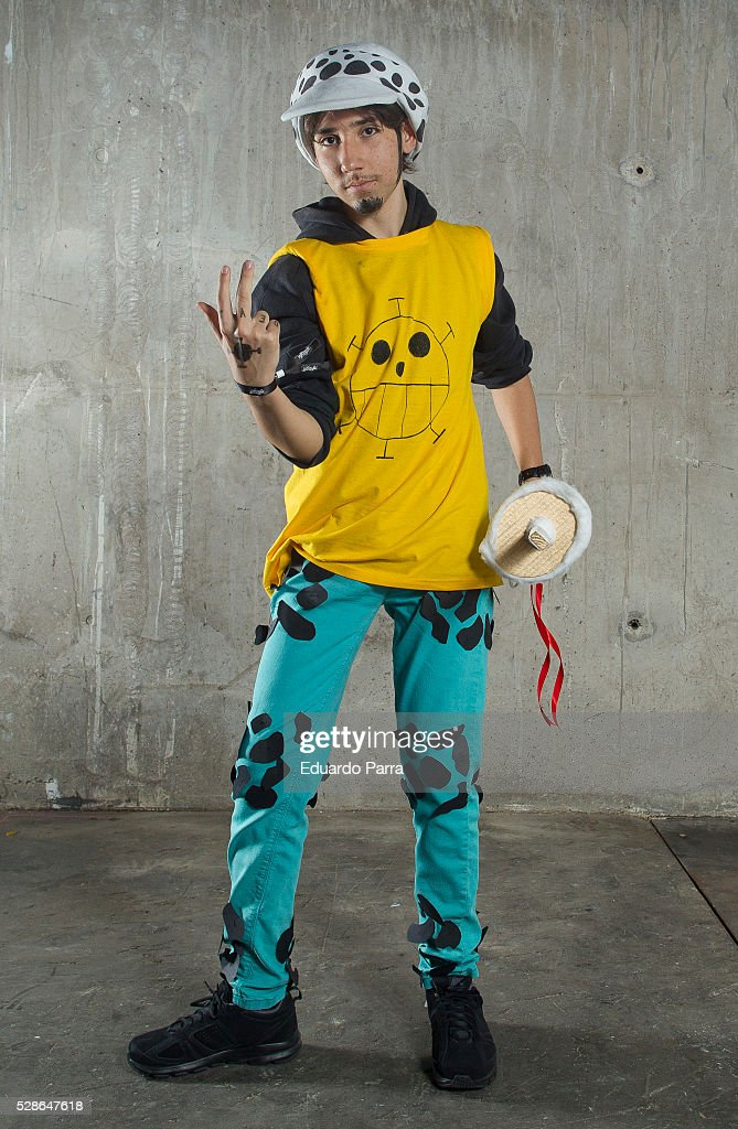 A cosplayer characterized as the Trafalgar Law character of the tv series 'One Piece', attends the fair Expomanga at IFEMA on May 06, 2016 in Madrid, Spain .
