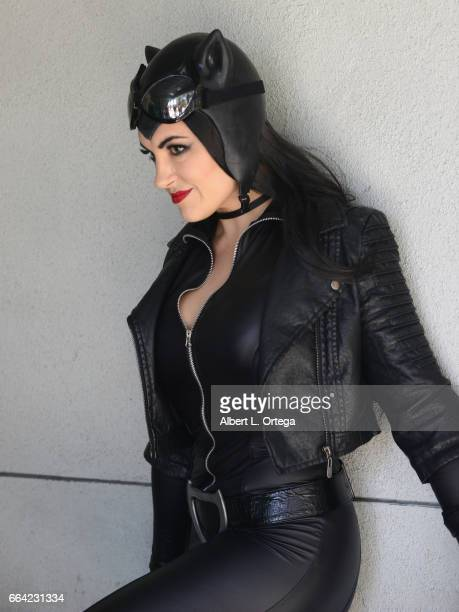 Cosplayer Chrissy Lynn Kyle as Catwoman on Day 3 of WonderCon 2017 held at Anaheim Convention Center on April 2 2017 in Anaheim California
