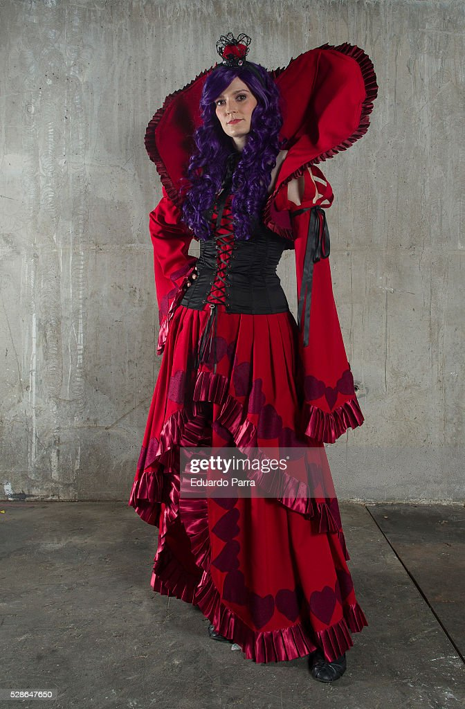 Cosplayer Chusa Maria characterized as the Vivaldi the Queen of Hearts character of the tv series Heart no Kuni no Alice attends the fair Expomanga at IFEMA on May 06, 2016 in Madrid, Spain .