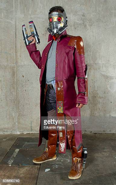 Cosplayer Diego Prieto characterized as the Starlord character of the film 'Guardians of the Galaxy' attends the fair Expomanga at IFEMA on May 07...