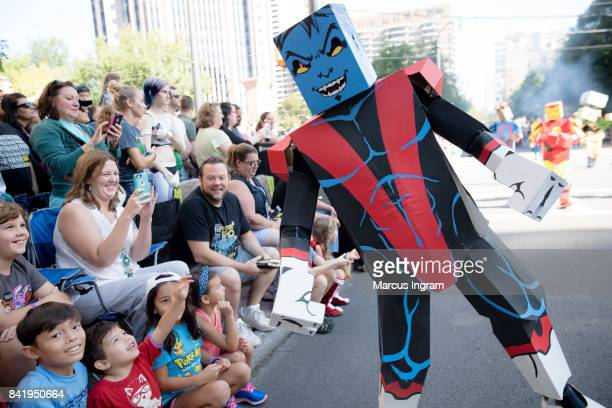 Cosplayer dressed as a Boxed Hero greet fans at the 2017 DragonCon Parade on September 2 2017 in Atlanta Georgia DragonCon is a multimedia convention...