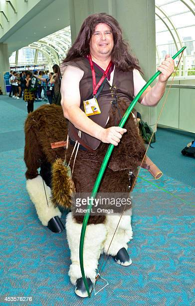 Cosplayer dressed as a Centaur at the San Diego Convention Center on Day 2 of ComicCon International 2014 on July 25 2014 in San Diego California