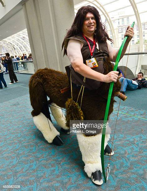 Cosplayer dressed as a Centaur on Day 1 of ComicCon International at the San Diego Convention Center on July 24 2014 in San Diego California