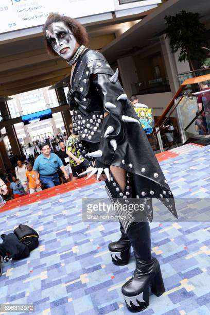 A cosplayer dressed as a member of the band KISS attends Awesome Con 2017 at Walter E Washington Convention Center on June 17 2017 in Washington DC