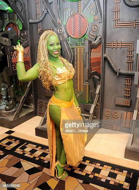 Cosplayer dressed as an Orion Slave Girl at the 14th annual official Star Trek convention at the Rio Hotel Casino on August 8 2015 in Las Vegas Nevada