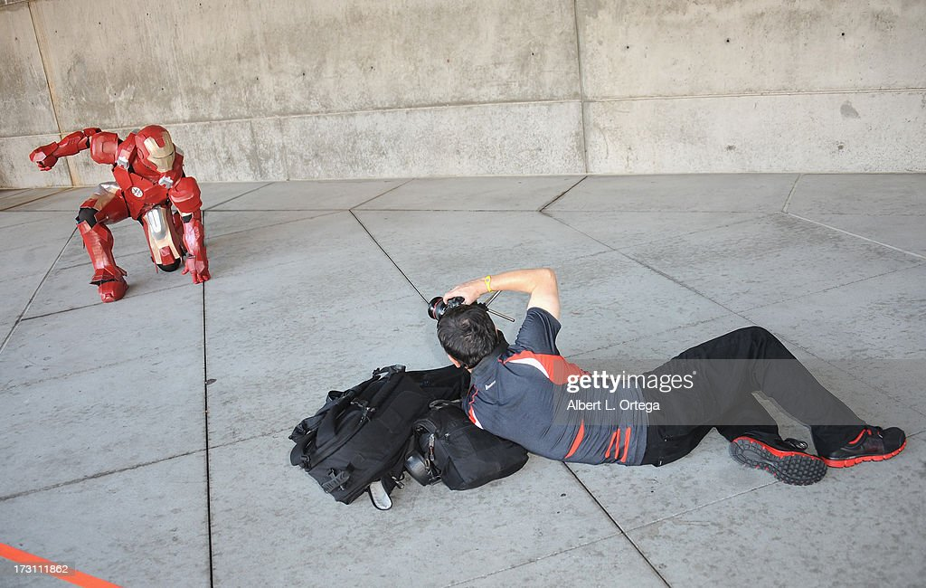 Cosplayer dressed as Iron Man attends the Anime Expo (AX) 2013 held at The Los Angeles Convention Center on July 6, 2013 in Los Angeles, California.