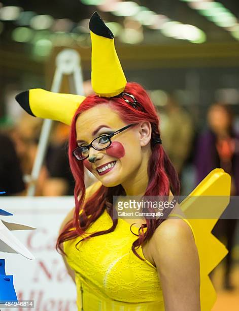 A cosplayer dressed as Pikachu attends Wizard World Comic Con Chicago 2015 Day 3 at Donald E Stephens Convention Center on August 22 2015 in Chicago...
