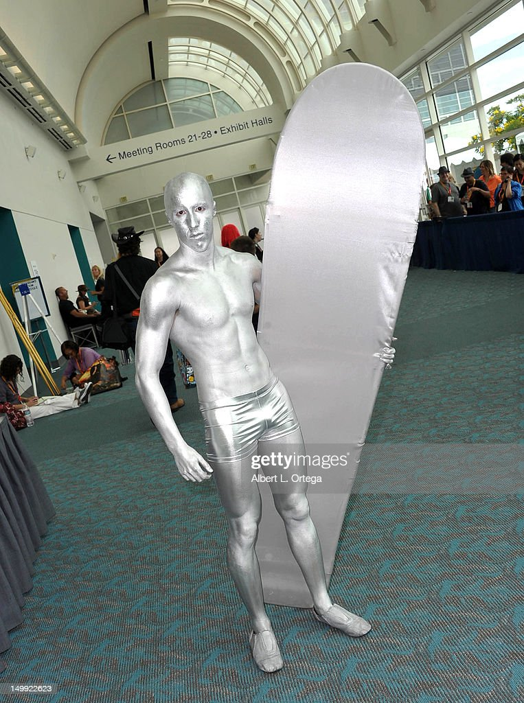 Cosplayer dressed as The Silver Surfer attends ComicCon International 2012 held at San Diego Convention Center on July 12 2012 in San Diego California