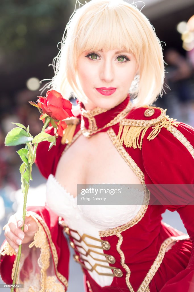 Cosplayer Elizabeth Rage attends the Anime Expo 2017 at Los Angeles Convention Center on July 2, 2017 in Los Angeles, California.