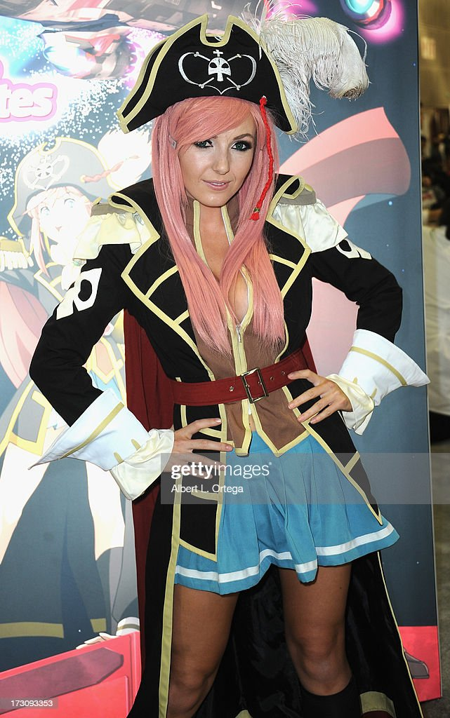 Cosplayer Jessica Nigri attends the Anime Expo (AX) 2013 held at The Los Angeles Convention Center on July 6, 2013 in Los Angeles, California.
