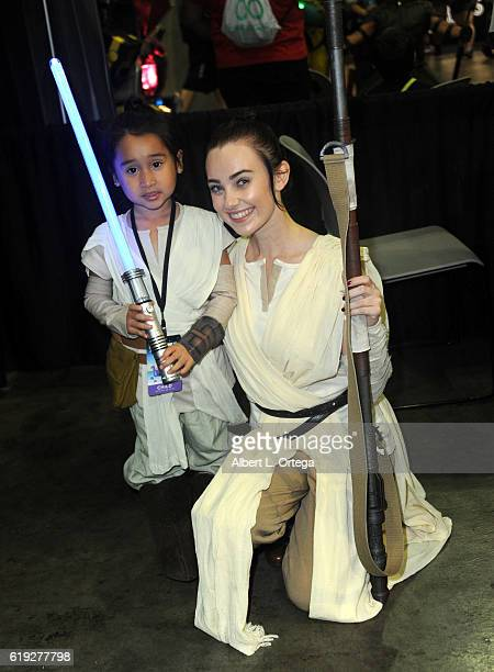 Cosplayer Megan Golden as Rey on day 2 of Stan Lee's Los Angeles Comic Con 2016 held at Los Angeles Convention Center on October 29 2016 in Los...