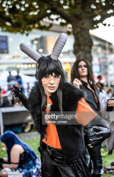 A cosplayer pictured at the 2017 Frankfurt Book Fair on October 14 2017 in Frankfurt am Main Germany The 11th German Cosplay Championship take place...