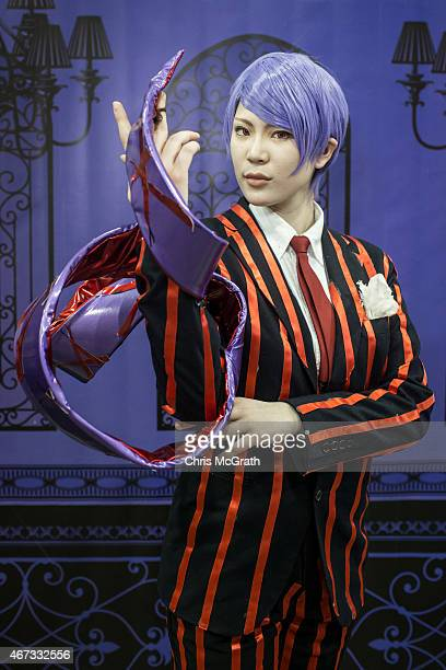A cosplayer poses for a portrait at the cosplay area during the Anime Japan 2015 Expo on March 22 2015 in Tokyo Japan Cosplay is a subculture that...