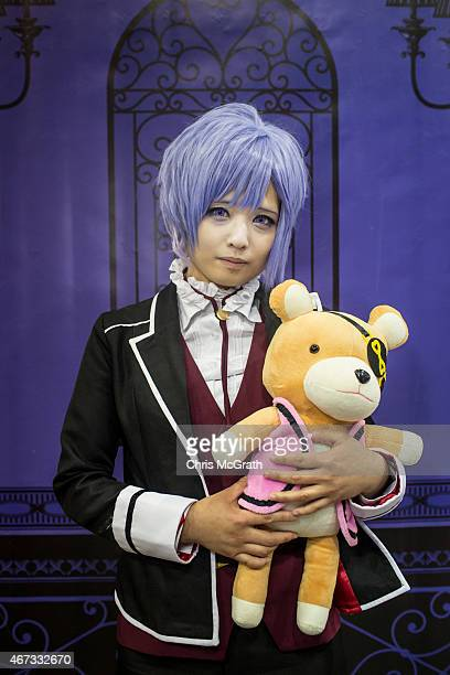 A cosplayer poses for a portrait at the cosplay area during the Anime Japan 2015 Expo on March 21 2015 in Tokyo Japan Cosplay is a subculture that...