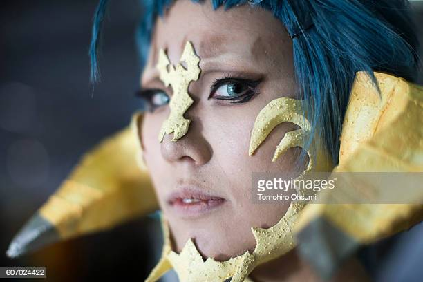 A cosplayer poses for a portrait at the cosplay area during the Tokyo Game Show 2016 on September 17 2016 in Tokyo Japan The Tokyo Game Show 2016 is...