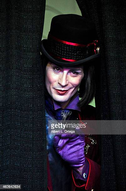 Cosplayer Richie Lillard dressed as Willy Wonka at Club Cosplay LA held at OHM Nightclub on January 18 2015 in Hollywood California