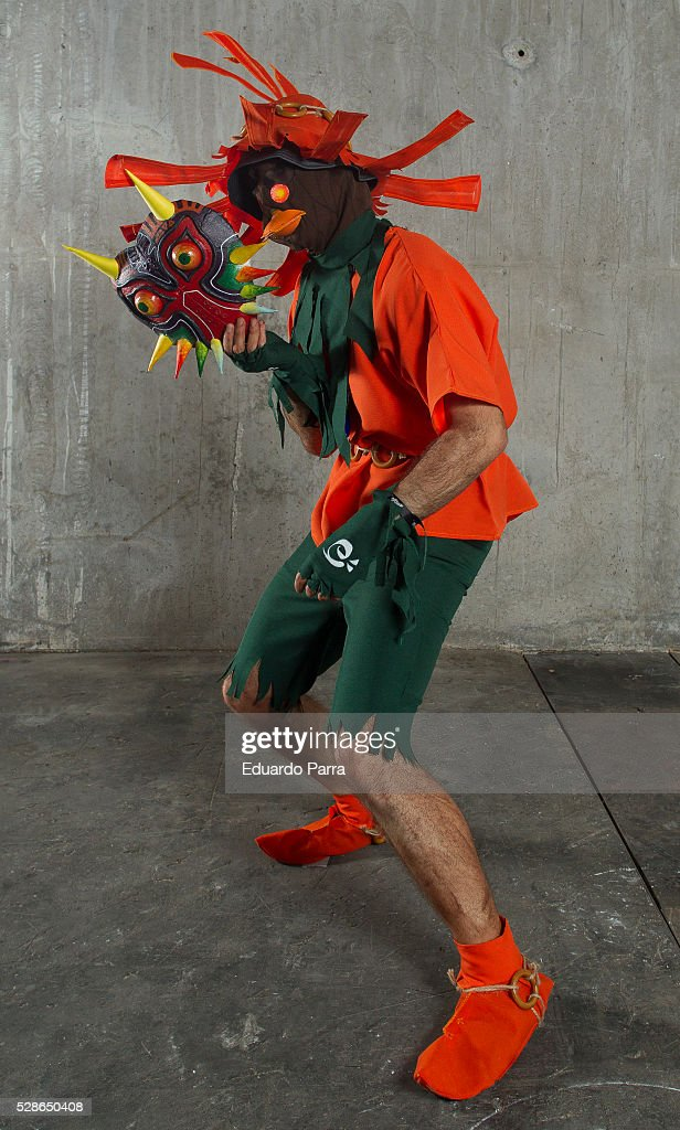Cosplayer @Sergio_gon characterized as the Skull Kid character of the video game The Legend of Zelda attends the fair Expomanga at IFEMA on May 06, 2016 in Madrid, Spain.