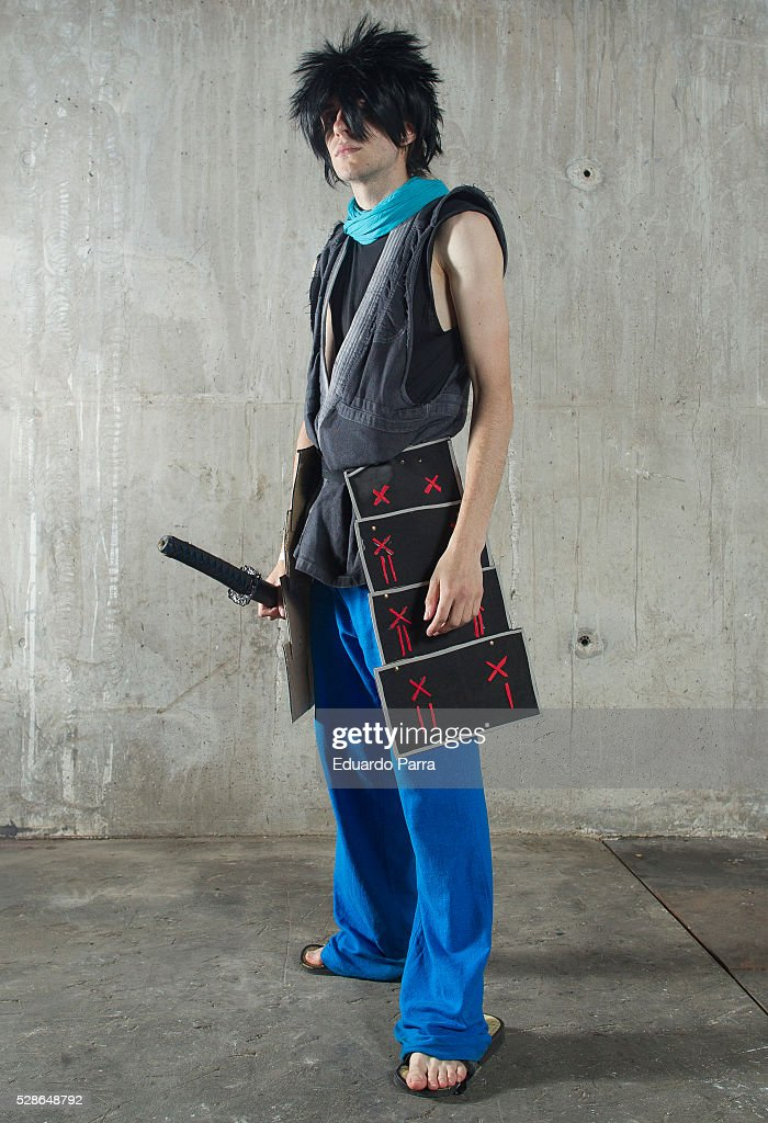 Cosplayer @the-ono-sama characterized as the Kisuke character of the videogame Muramasa, attends the fair Expomanga at IFEMA on May 06, 2016 in Madrid, Spain .