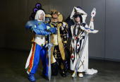 Cosplayers are seem backstage ahead of the Sydney round of the Madman National Cosplay Championships which take place as part of the Supanova Pop...
