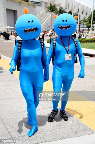 Cosplayers attend ComicCon International 2014 on July 25 2014 in San Diego California