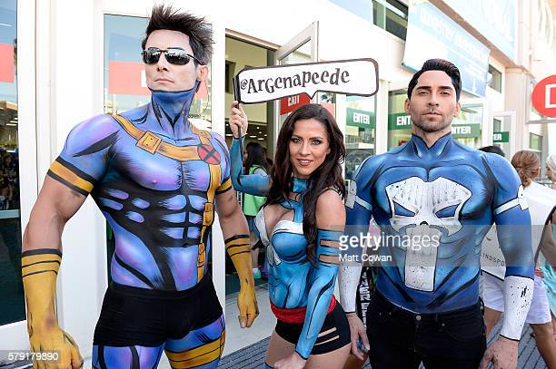 Cosplayers attend ComicCon International on July 22 2016 in San Diego California