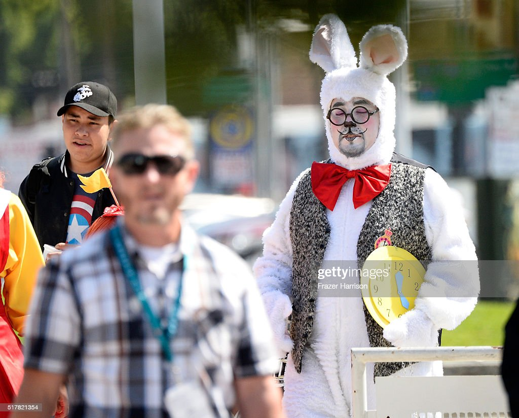 Cosplayers attend day 3 of Wondercon 2016 at Los Angeles Convention Center on March 27 2016 in Los Angeles California