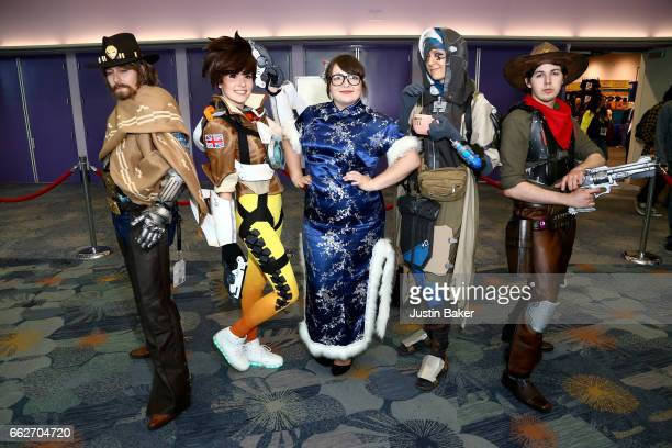 Cosplayers attend day one of WonderCon 2017 at Anaheim Convention Center on March 31 2017 in Anaheim California