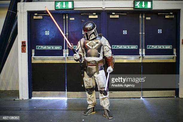Cosplayers attend London Film and Comic Con at Earls Court exhibition centre in London England on July 13 2014