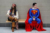 Cosplayers attend London Super Comic Convention at ExCeL convention centre in London England on March 15 2015