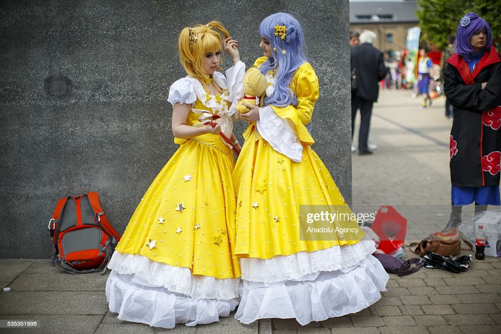 Cosplayers attend MCM Comic Con at ExCeL convention centre in London, England on May 29, 2016.