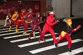 Cosplayers attend New York ComicCon Day 2 at The Jacob K Javits Convention Center on October 9 2015 in New York City