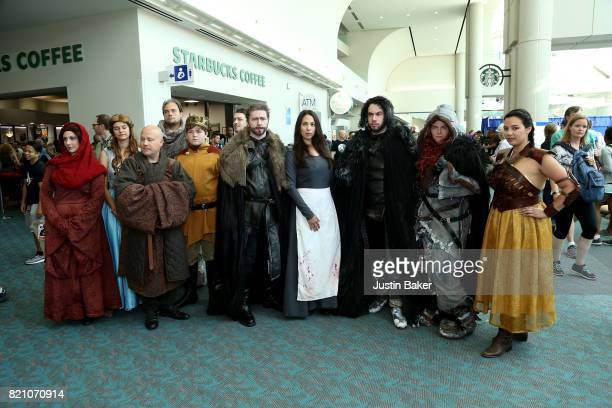 Cosplayers attend the 2017 ComicCon International on July 22 2017 in San Diego California