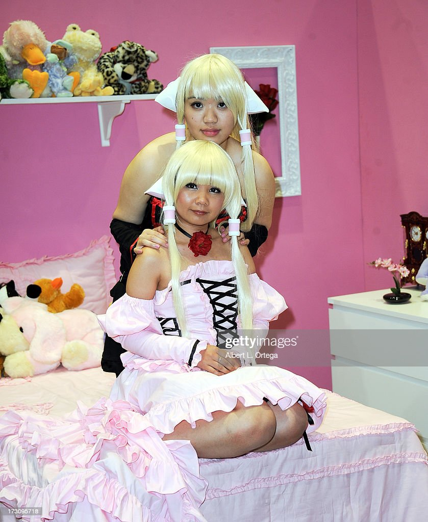 Cosplayers attend the Anime Expo (AX) 2013 held at The Los Angeles Convention Center on July 6, 2013 in Los Angeles, California.