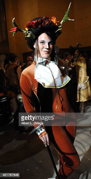 Cosplayers attend The Labyrinth Of Jareth XVII Masquerade held at Park Plaza Hotel on July 5 2014 in Los Angeles California