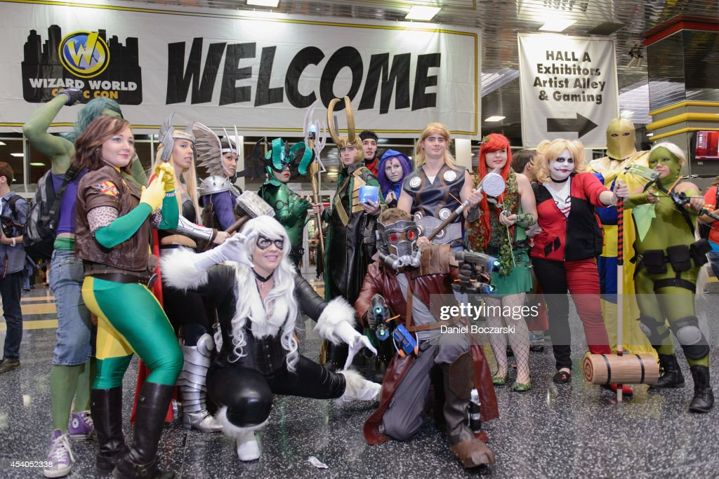 Cosplayers attend Wizard World Chicago Comic Con 2014 at Donald E. Stephens Convention Center on August 23, 2014 in Chicago, Illinois.