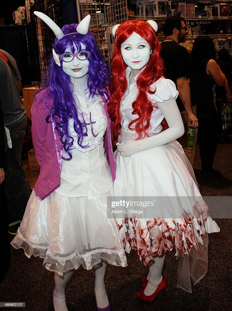 Cosplayers attend WonderCon Anaheim 2014 - Day 3 held at Anaheim Convention Center on April 20, 2014 in Anaheim, California.