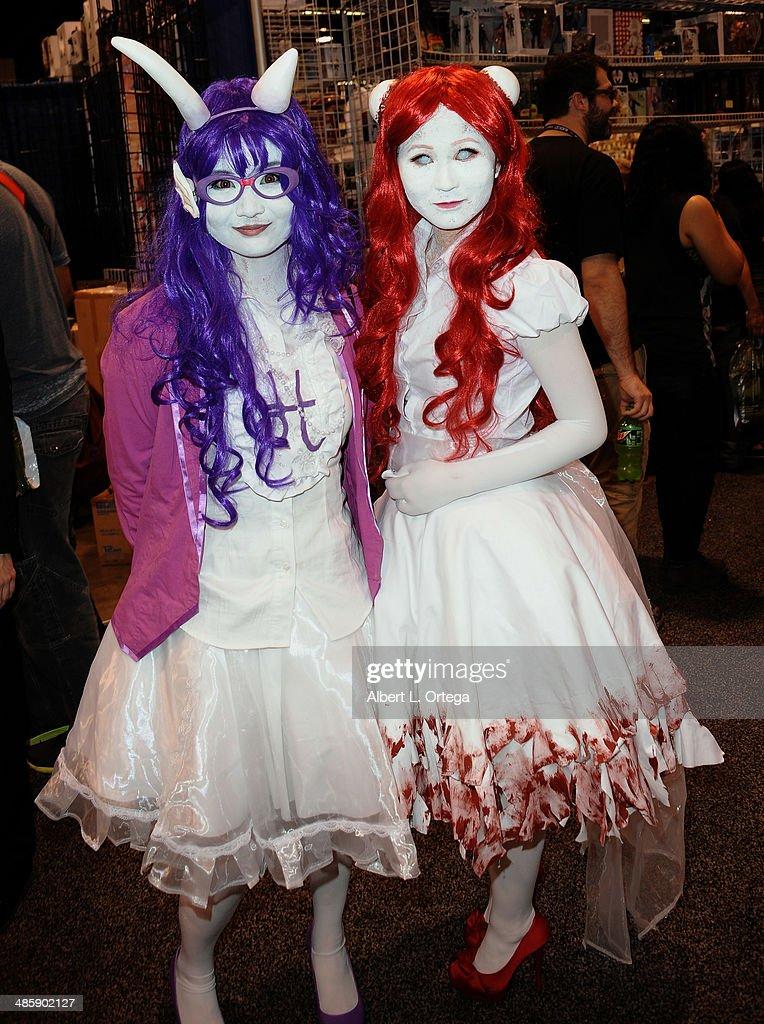 Cosplayers attend WonderCon Anaheim 2014 - Day 3 held at Anaheim Convention Center on April 20, 2014 in Anaheim, California.
